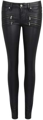 Paige Edgemont Zipped Skinny Coated Jeans