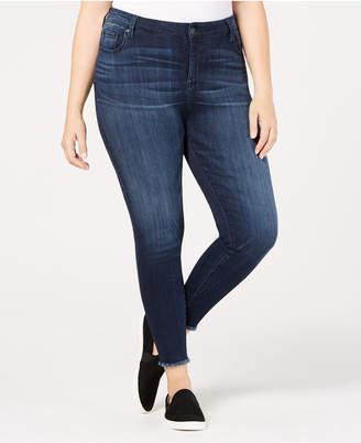 Celebrity Pink Trendy Plus Size Raw-Hem Skinny Jeans