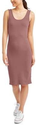 Derek Heart Juniors' Sleeveless Scoop Neck Body Con Midi Dress