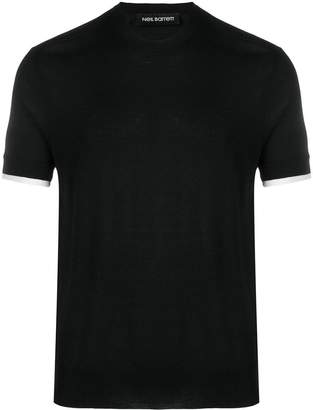 Neil Barrett knitted short sleeved top