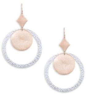 Stephanie Kantis Brushed 18K Rose Gold& Sterling Silver Plated Earrings