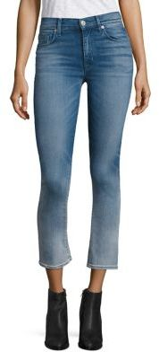 Hudson Harper Ombre High-Rise Cropped Flared Jeans $205 thestylecure.com