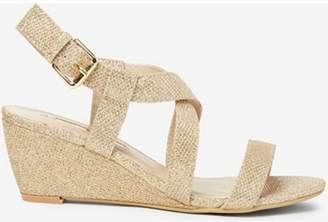 Dorothy Perkins Womens Gold 'Rosina' Wedge Sandals