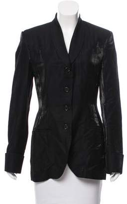 Richard Tyler Shawl Collar Button-Up Blazer
