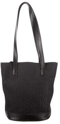 Céline Leather-Trimmed Bucket Tote