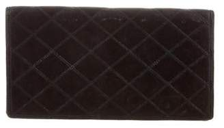 Chanel Diamond Quilt Checkbook Wallet