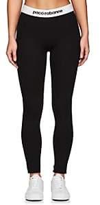 Paco Rabanne Women's Logo-Waistband Leggings - Black