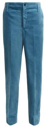 Golden Goose Straight Leg Cotton Corduroy Trousers - Womens - Blue