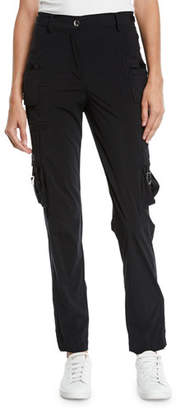 RED Valentino Nylon Straight-Leg Cargo Pants