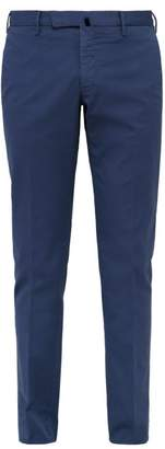 Incotex Slim Fit Cotton Blend Chino Trousers - Mens - Blue