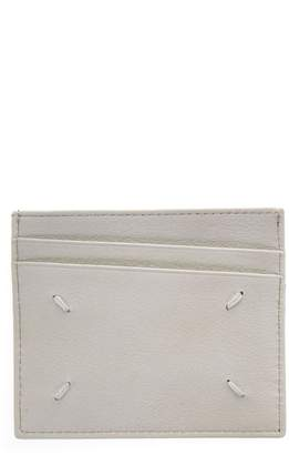 Maison Margiela Two Tone Cardholder In Leather