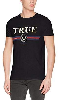 True Religion Men's Crew Neck Shirt Logo T-Shirt,XL