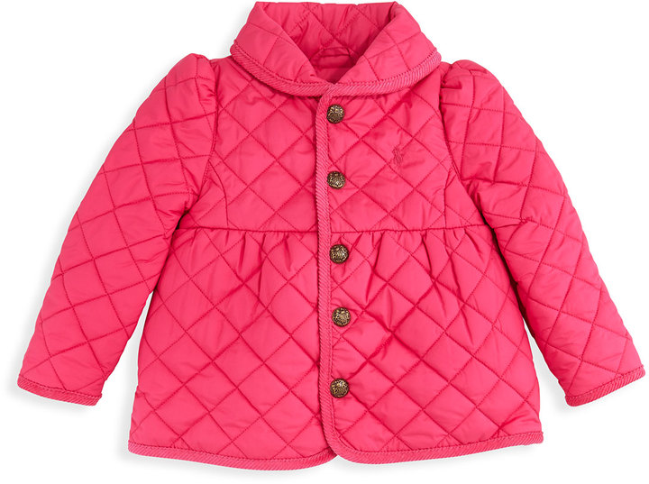 Ralph Lauren Quilted Barn Jacket, Currant, 2T-3T