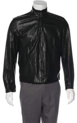 Barneys New York Barney's New York Leather Reversible Jacket