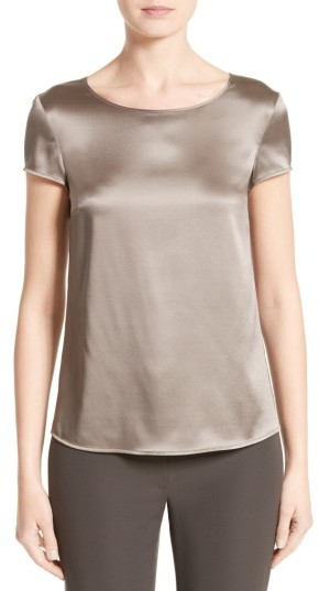 Women's Armani Collezioni Stretch Silk Satin Top