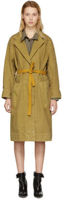 Etoile Isabel Marant Brown Laurel Long Cotton Coat