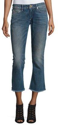 True Religion Karlie Bell-Bottom Cropped Jeans, Blue Z $219 thestylecure.com