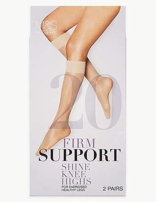 Marks and Spencer 2 Pair Pack Firm Support Shine Knee High