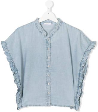 Liu Jo Kids TEEN frill trim denim shirt