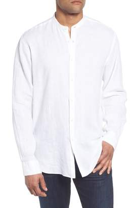 Bugatchi Classic Fit Band Collar Sport Shirt