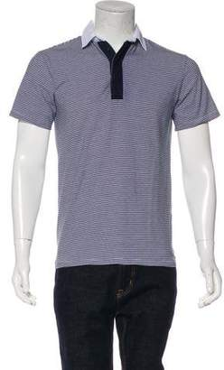 Shades of Grey Striped Polo Shirt