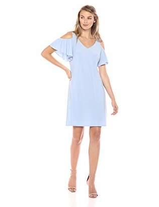 MSK Women's Flutter Sleeve Cold Shoulder Shift Dress