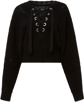 Isabel Marant Laley Lace Up Sweater