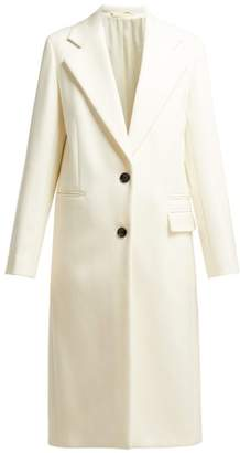 Joseph Magnus Single Breasted Wool Blend Coat - Womens - White Black