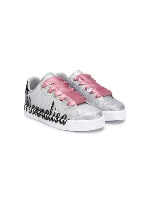 MonnaLisa glitter logo sneakers