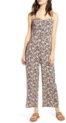 Mimichica Mimi Chica Floral Tie Back Jumpsuit