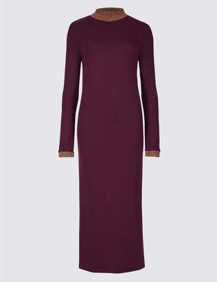 Marks and Spencer Textured Long Sleeve Maxi Dress