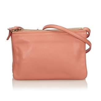Celine Trio Orange Leather Handbag 22408bfd94
