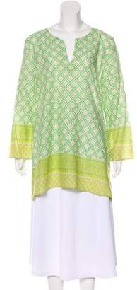 Calypso Geometric Print Long Sleeve Tunic