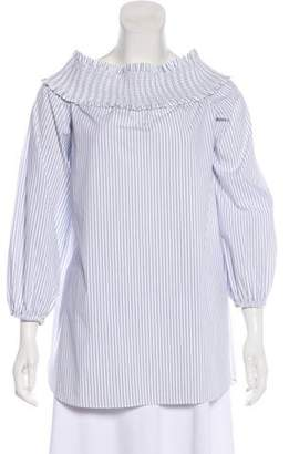 Tibi Striped Long Sleeve Tunic