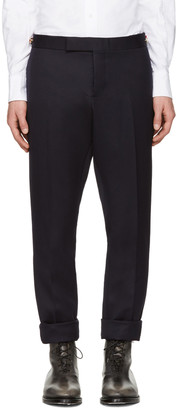 Thom Browne Navy Twill Trousers $1,570 thestylecure.com