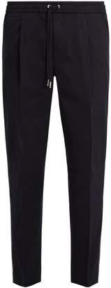 Moncler Mid-rise cotton-blend track pants