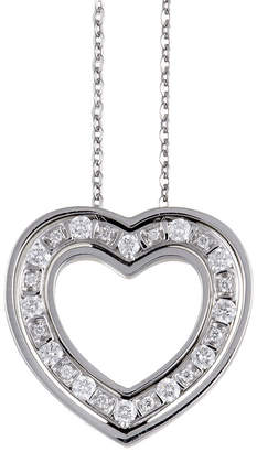 Damiani 18K White Gold 0.30 Ct. Tw. Diamond Heart Necklace