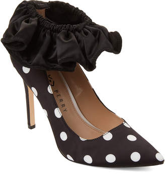 Katy Perry Polka Dot Quinn Ankle Ruffle Pumps