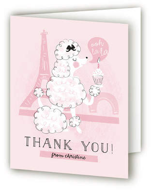 Parisian Poodle Bridal Shower Thank You Cards