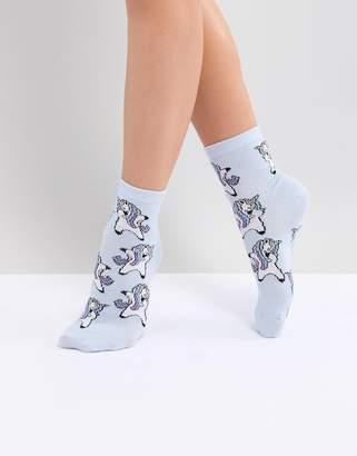 Asos DESIGN Unicorn Dabbing Socks