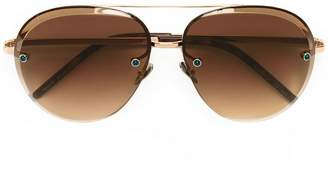 Pomellato Eyewear oversized aviator sunglasses