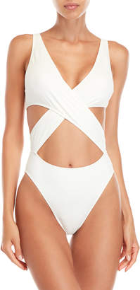 Solid & Striped Poppy Crisscross One-Piece Swimsuit
