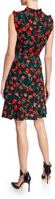 Karl Lagerfeld Paris Ruffle Floral-Print Sheath Dress