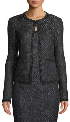 St. John Shimmer Inlay Brocade Knit Jacket