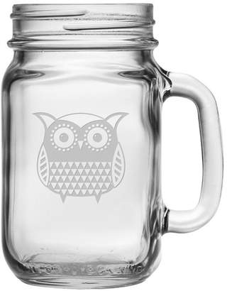 Susquehanna Glass Folk Art Owl 16 oz. Drinking Jar