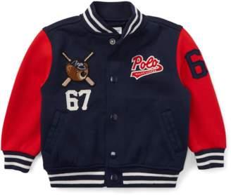 Ralph Lauren Kids Polo Bear Baseball Jacket