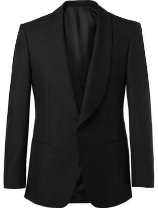 Kingsman Black Slim-Fit Wool And Mohair-Blend Tuxedo Jacket