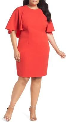 Eliza J Cape Sheath Dress