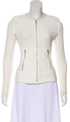 IRO Mesh-Accented Structured Jacket