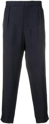 Barena elastic waist tapered trousers